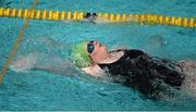 30 July 2015; Team Ireland's Lorraine Hession, a member of Team South Galway, from Turloughmore, Co. Galway, on her way to a Personal Best time of 1:22.76 for the 50m back stroke at the Uytengsu Aquatics Center. Special Olympics World Summer Games, Los Angeles, California, United States. Picture credit: Ray McManus / SPORTSFILE