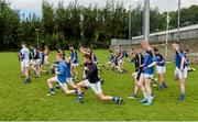 1 August 2015; The Longford players warm up ahead of the game. Electric Ireland GAA Football All-Ireland Minor Championship Quarter-Final, Longford v Derry. Brewster Park, Enniskillen, Co. Fermanagh. Picture credit: Oliver McVeigh / SPORTSFILE