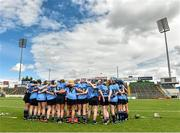 1 August 2015; Dublin players huddle before the start of the game. Liberty Insurance Senior Camogie Championship Play-Off, Clare v Dublin. Semple Stadium, Thurles, Co. Tipperary. Picture credit: Matt Browne / SPORTSFILE