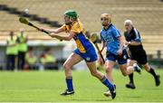 1 August 2015; Emma O'Driscoll, Clare, in action against Elaine O'Meara, Dublin. Liberty Insurance Senior Camogie Championship Play-Off, Clare v Dublin. Semple Stadium, Thurles, Co. Tipperary. Picture credit: Matt Browne / SPORTSFILE