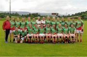 1 August 2015; The Mayo squad. TG4 Ladies Football All-Ireland Senior Championship Qualifier Round 2, Mayo v Tyrone. Ballinamore, Co. Leitrim. Picture credit: Seb Daly / SPORTSFILE