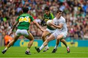 2 August 2015; Padraig Fogarty, Kildare, in action against Aidan O Mahoney and Paul Galvin, Kerry. GAA Football All-Ireland Senior Championship Quarter-Final, Kerry v Kildare. Croke Park, Dublin. Picture credit: Piaras Ó Mídheach / SPORTSFILE