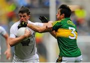 2 August 2015; Pádraig Fogarty, Kildare, in action against Aidan O'Mahony, Kerry. GAA Football All-Ireland Senior Championship Quarter-Final, Kerry v Kildare. Croke Park, Dublin. Picture credit: Eoin Noonan / SPORTSFILE
