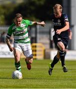 3 August 2015; Gary McCabe, Shamrock Rovers, in action against Chris Forrester, St Patrick's Athletic. EA Sports Cup Semi-Final, Shamrock Rovers v St Patrick's Athletic. Tallaght Stadium, Tallaght Co. Dublin. Picture credit: David Maher / SPORTSFILE