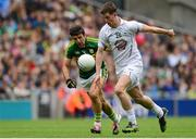 2 August 2015; Pádraig Fogarty, Kildare, in action against Aidan O'Mahony, Kerry. GAA Football All-Ireland Senior Championship Quarter-Final, Kerry v Kildare. Croke Park, Dublin. Picture credit: Piaras Ó Mídheach / SPORTSFILE
