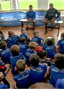 5 August 2015; Leinster players Bryan Byrne and Ian Hirst visited the Bank of Ireland Leinster Rugby Summer Camp at Tullamore RFC to meet with young players. Tullamore RFC, Co. Offaly. Picture credit: David Maher / SPORTSFILE