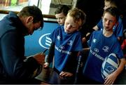 5 August 2015; Leinster players Bryan Byrne and Ian Hirst, visited the Bank of Ireland Leinster Rugby Summer Camp at Tullamore RFC to meet with young players. Tullamore RFC, Co. Offaly. Picture credit: David Maher / SPORTSFILE