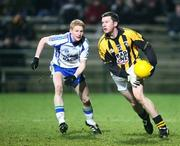 30 November 2008; Brendan McKeown, Crossmaglen Rangers, in action against Colin Devlin, Ballinderry. AIB Ulster Senior Club Football Championship Final, Crossmaglen Rangers v Ballinderry, Brewster Park, Enniskillen, Co. Fermanagh. Picture credit: Oliver McVeigh / SPORTSFILE