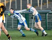 14 December 2008; James Bateson, Ballinderry, celebrates with Colin Devlin after scoring a second half goal against Crossmaglen Rangers. AIB Ulster Senior Club Football Championship Final Replay, Crossmaglen Rangers v Ballinderry, Brewster Park, Enniskillen, Co. Fermanagh. Picture credit: Oliver McVeigh / SPORTSFILE