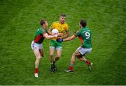 8 August 2015; Christy Toye, Donegal, in action against Donal Vaughan, left, and Tom Parsons, Mayo. GAA Football All-Ireland Senior Championship Quarter-Final, Donegal v Mayo, Croke Park, Dublin. Picture credit: Dáire Brennan / SPORTSFILE