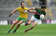 8 August 2015; Ger Cafferkey, Mayo, in action against Michael Murphy, Donegal. GAA Football All-Ireland Senior Championship Quarter-Final. Donegal v Mayo, Croke Park, Dublin. Picture credit: Stephen McCarthy / SPORTSFILE