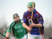 4 January 2009; Kevin Lannigan, University of Limerick, in action against Stephen Walsh, Limerick. Waterford Crystal Cup, Limerick v University of Limerick, Claughaun, Limerick. Picture credit: Diarmuid Greene / SPORTSFILE