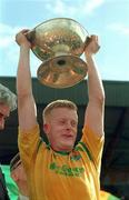 24 July 1994; Leitrim captain Declan Darcy lifts the cup. Connacht Senior Football Championship Final, Mayo v Leitrim, McHale Park, Castlebar, Co. Mayo. Picture Credit: David Maher / SPORTSFILE