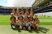 9 August 2015; The Kilkenny hurling team, back row, from left, Ian Byrne, Glenmore NS Kilkenny, Ronan Donnelly, St. Patrick's PS, Donaghmore, Tyrone, Conor Burke, St Mark's SNS, Springfield, Dublin, Gerard Kavanagh, Myshall NS, Carlow, Seán Magill, Scoil Mhuire na nGael, Dundalk, Louth. Front row from left, Oisín Ó Ceallaigh, Gaelscoil Eoghan Uí Thuairisc, Carlow, Charlie Hamilton, St, Joseph's NS, Dromahair, Leitrim, Peter Doyle, St. Felim's NS, Ballinagh, Cavan, Thomas Lonergan, Dunboyne SNS, Meath, Ryan Devlin, Blessed Patrick O'Loughran, Dungannon, Tyrone. Cumann na mBunscol INTO Respect Exhibition Go Games 2015 at Kilkenny v Waterford - GAA Hurling All-Ireland Senior Championship Semi-Final. Croke Park, Dublin. Picture credit: Piaras Ó Mídheach / SPORTSFILE