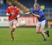 11 January 2009; Adrian Reid, Louth, in action against Philip Reynolds, Longford. O'Byrne Cup Quarter-Final, Longford v Louth, Pearse Park, Longford. Picture credit: David Maher / SPORTSFILE