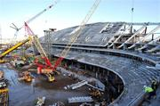 13 January 2009; General Views of Lansdowne Road Re-Development. Picture credit: David Maher / SPORTSFILE