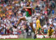 8 August 2015; Aidan O'Shea, Mayo, celebrates after scoring his side's first goal. GAA Football All-Ireland Senior Championship Quarter-Final. Donegal v Mayo, Croke Park, Dublin. Picture credit: Stephen McCarthy / SPORTSFILE