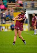 15 August 2015; Niamh McGrath, Galway, scores the winning point from a free at the end of extra time. Liberty Insurance All-Ireland Camogie Senior Championship, Semi-Final, Galway v Wexford, Nowlan Park, Kilkenny. Picture credit: Sam Barnes / SPORTSFILE