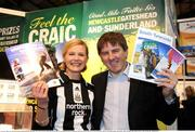 23 January 2009; Newcastle and England football legend Peter Beardsley, who is now a tourism ambassador for the Cities of NewcastleGateshead and Sunderland, pictured with Nicola Shortt of the Newcastle Tourism Board, at the Dublin Holiday World Show 2009 at the RDS. RDS, Dublin. Picture credit: Pat Murphy / SPORTSFILE