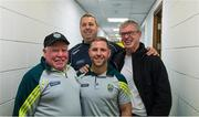 23 August 2015; Joe Brolly with Kerry 'kitmen' Vincent Linnane, Niall 'Botty' O'Callaghan and Jason McGahan before the kitmen prepared the Kerry dressingroom. GAA Football All-Ireland Senior Championship, Semi-Final, Kerry v Tyrone. Croke Park, Dublin. Picture credit: Ray McManus / SPORTSFILE