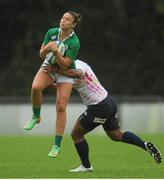 23 August 2015; Louise Galvin, Ireland, is tackled by Mateitoga Bogidraumainadave, Japan. Women's Sevens Rugby Tournament, Cup Final, Ireland v Japan. UCD, Belfield, Dublin.