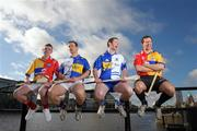 10 February 2009; Tipperary's Diarmuid Fitzgerald, Monaghan's Michael McHugh, Louth's Brian McCabe and Clare's Tony Griffin at todays announcement of plans for the 2009 Halifax GPA Hurling Twinning Programme. The scheme will be expanded over the next twelve months with increased squad visits following the success of last year's inaugural programme. Clarion Hotel, IFSC, Dublin. Picture credit: Paul Mohan / SPORTSFILE