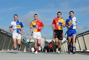 10 February 2009; Tipperary's Diarmuid Fitzgerald, Louth's Brian McCabe, Clare's Tony Griffin and Monaghan's Michael McHugh at todays announcement of plans for the 2009 Halifax GPA Hurling Twinning Programme. The scheme will be expanded over the next twelve months with increased squad visits following the success of last year's inaugural programme. Clarion Hotel, IFSC, Dublin. Picture credit: Paul Mohan / SPORTSFILE