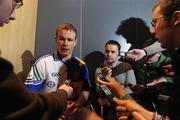 10 February 2009; Tipperary's Diarmuid Fitzgerald speaking to journalists at today's announcement of plans for the 2009 Halifax GPA Hurling Twinning Programme. The scheme will be expanded over the next twelve months with increased squad visits following the success of last year's inaugural programme. Clarion Hotel, IFSC, Dublin. Picture credit: Paul Mohan / SPORTSFILE