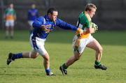 15 February 2009; Sean Ryan, Offaly, in action against Enda Williams, Longford. Allianz National Football League, Division 3, Round 2, Offaly v Longford, O'Connor Park, Tullamore, Co. Offaly. Picture credit: Brian Lawless / SPORTSFILE