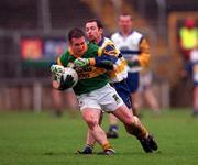 22 October 2000; Paraic McDonald, Castleblayney, in action against Colm McCann, Errigal Ciaran. Errigal Ciaran v Castleblayney, Ulster Senior Club Football Championship, St. Tiernan's Park, Clones, Co. Monaghan. Picture credit; Ray McManus/SPORTSFILE