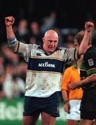 27 October 2000; Gary Halpin of Leinster celebrates following his side's victory during the Heineken Cup Pool 1 match between Leinster and Northampton Saints at Donnybrook Stadium in Dublin. Photo by Brendan Moran/Sportsfile