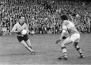 28 September 1975; Tony Hanahoe, Dublin, in action against Tim Kennelly, Kerry, All-Ireland Football Final. Dublin v Kerry. Croke Park, Dublin. Picture credit: Connolly Collection / SPORTSFILE