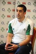 23 February 2009; Ireland captain Kieran Campbell at the Ireland Seven's Squad Announcement. Regency Hotel, Whitehall, Dublin. Picture credit: Stephen McCarthy / SPORTSFILE