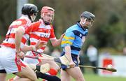 25 February 2009; James Walsh, UCD, in action against Adrian mannix, no. 9, and Gerdi O'Driscoll, Cork IT. Ulster Bank Fitzgibbon Cup Quarter-Final,Cork IT v UCD, CIT Sports Stadium, Cork. Picture credit: Matt Browne / SPORTSFILE *** Local Caption ***