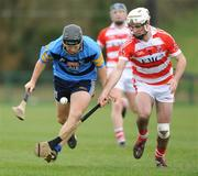25 February 2009; Ciaran Lyng, UCD, in action against John O,Callaghan, Cork IT. Ulster Bank Fitzgibbon Cup Quarter-Final,Cork IT v UCD, CIT Sports Stadium, Cork. Picture credit: Matt Browne / SPORTSFILE *** Local Caption ***