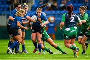 29 August 2015; Elise O'Byrne White, Leinster, is tackled by Sene Naoupu, Connacht. Women's Interprovincial, Leinster v Connacht, Donnybrook Stadium, Donnybrook, Dublin. Picture credit: Sam Barnes / SPORTSFILE