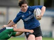 29 August 2015; Jennie Finlay, Leinster, hands off a tackle by Jill Draper, Connacht, before going on to score a try. Women's Interprovincial, Leinster v Connacht, Donnybrook Stadium, Donnybrook, Dublin. Picture credit: Sam Barnes / SPORTSFILE