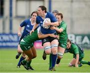 29 August 2015; Paula Fitzpatrick, Leinster, is tackled by Sene Naoupu, left, and Carol Staunton, Connacht. Women's Interprovincial, Leinster v Connacht, Donnybrook Stadium, Donnybrook, Dublin. Picture credit: Sam Barnes / SPORTSFILE