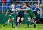 29 August 2015; Aine Donnelly, Leinster, is tackled by Carol Staunton, Connacht. Women's Interprovincial, Leinster v Connacht, Donnybrook Stadium, Donnybrook, Dublin. Picture credit: Sam Barnes / SPORTSFILE