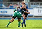 29 August 2015; Ailis Egan, Leinster, is tackled by Laura Feely, Connacht. Women's Interprovincial, Leinster v Connacht, Donnybrook Stadium, Donnybrook, Dublin. Picture credit: Sam Barnes / SPORTSFILE