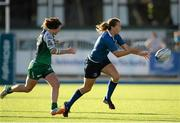 29 August 2015; Jeamie Deacon, Leinster, makes a pass whilst being pursued by Emer O'Mahony, Connacht. Women's Interprovincial, Leinster v Connacht, Donnybrook Stadium, Donnybrook, Dublin. Picture credit: Sam Barnes / SPORTSFILE