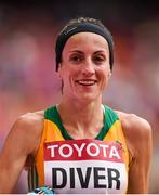 30 August 2015; Sinead Diver, from Belmullet, Co. Mayo, representing Australia, following her 21st place finish in the Women's Marathon event. IAAF World Athletics Championships Beijing 2015 - Day 9, National Stadium, Beijing, China. Picture credit: Stephen McCarthy / SPORTSFILE