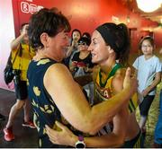 30 August 2015; Sinead Diver, from Belmullet, Co. Mayo, representing Australia, with her mother Bridie following her 21st place finish in the Women's Marathon event. IAAF World Athletics Championships Beijing 2015 - Day 9, National Stadium, Beijing, China. Picture credit: Stephen McCarthy / SPORTSFILE