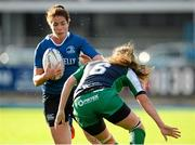 29 August 2015; Nora Stapleton, Leinster, runs at Edel McMahon, Connacht. Women's Interprovincial, Leinster v Connacht, Donnybrook Stadium, Donnybrook, Dublin. Picture credit: Sam Barnes / SPORTSFILE