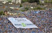 30 August 2015; Supporters on hill 16 display a flag in protest of the water charges. GAA Football All-Ireland Senior Championship, Semi-Final, Dublin v Mayo, Croke Park, Dublin. Picture credit: Dáire Brennan / SPORTSFILE