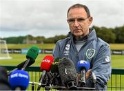 31 August 2015; Republic of Ireland manager Martin O'Neill during a pitchside update. Republic of Ireland pitchside update, Abbotstown, Co. Dublin. Picture credit: David Maher / SPORTSFILE