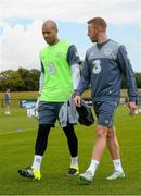 31 August 2015; Darren Randolph and Adam Rooney, Republic of Ireland, during squad training. Republic of Ireland Squad Training, Abbotstown, Co. Dublin. Picture credit: David Maher / SPORTSFILE