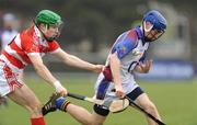6 March 2009; Brian Fox, UL, in action against Ryan Clifford, Cork IT. Ulster Bank Fitzgibbon Cup Semi-Final, Cork IT v UL, Clan na Gael Fontenoy GAA Club, Sandymount, Dublin. Picture credit: Pat Murphy / SPORTSFILE