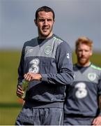 1 September 2015; John O'Shea, Republic of Ireland,  during squad training. Republic of Ireland Squad Training, Abbotstown, Co. Dublin. Picture credit: David Maher / SPORTSFILE