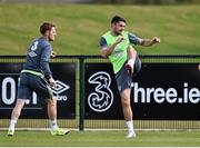 1 September 2015; Robbie Brady and Stephen Quinn, Republic of Ireland, in action during squad training. Republic of Ireland Squad Training, Abbotstown, Co. Dublin. Picture credit: David Maher / SPORTSFILE